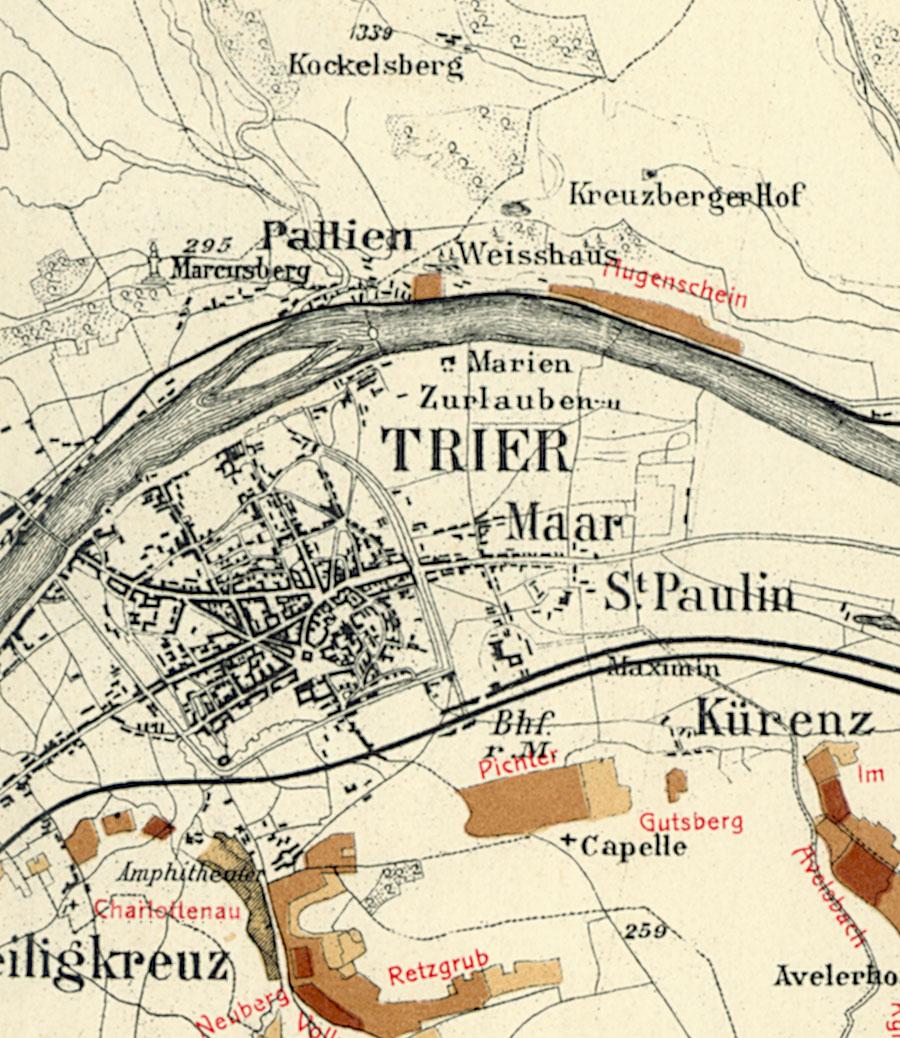 Trier Karte Umgebung.Trierer Burgberg Riesling De