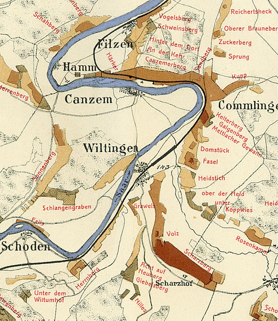Trier Karte Umgebung.Wiltinger Rosenberg Riesling De